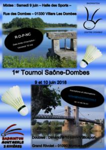 affiche tournoi saone dombes 2018